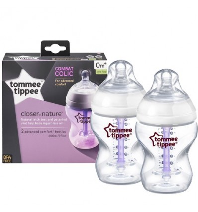 Closer to Nature Advanced Comfort Bottles 260ml Twin Pack