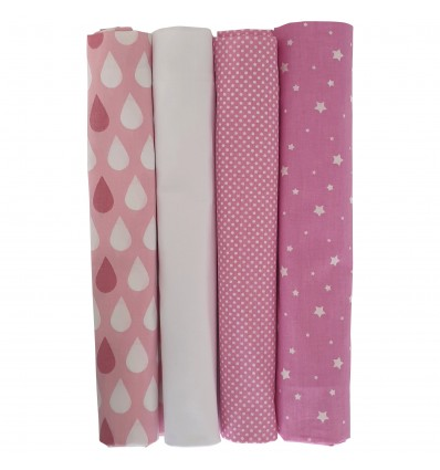 mk Collection Bedside Crib Sheets x 4 Grey