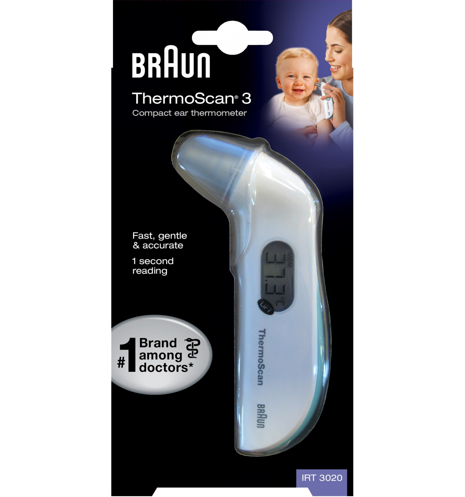how to take temperature with braun thermoscan
